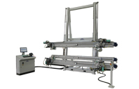 TITANPRESS-T for window frames. 4 brushless axis,                          automatic nailing, third beam for pressing inner horizontal elements                          Frame size: min. 380x380mm - max. 3000x3000mm