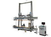 TITANPRESS-TR for trapezoidal frames. 4 hydraulic axis,                          2 automatic screwdrivers
